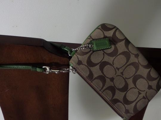 Coach COACH SMALL WRISTLET/ Or Cosmetic Bag
