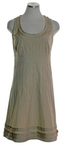 Tory Burch short dress Beige Stretch Sleeveless Pintuck on Tradesy