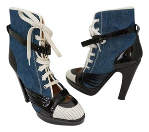 Jean-Paul Gaultier Bootie Blue & Black & White Boots