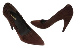 Prada Suede Brown Pumps