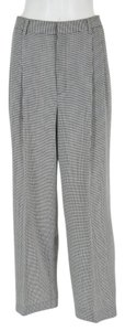 Ellen Tracy Relaxed Fit Relaxed Pants Black & White Houndstooth
