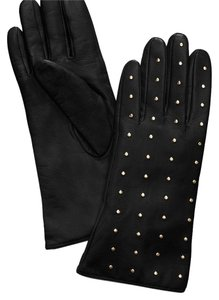 Tory Burch Gold Studded Leather Gloves