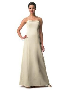 Michelangelo Beige Strapless Formal Dress