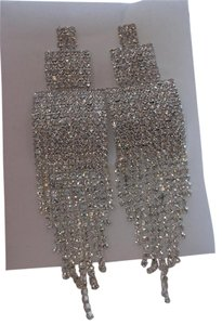 Super Long and Blingy Night Out Rhinestone Fashion Earrings w Free Shipping