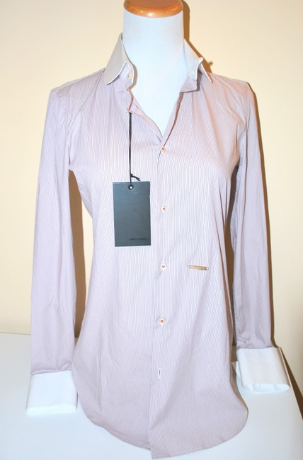 Dsquared2 Italy Strapped White/Purple Size 40 Medium Small Top
