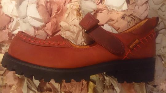 Rocket Dog Mary Jane Distressed Leather Sz 8 Red Mules