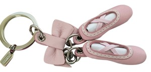 Coach Coach Pink Leather Ballet Slippers Prima Ballerina Key Chain Purse FOB Charm