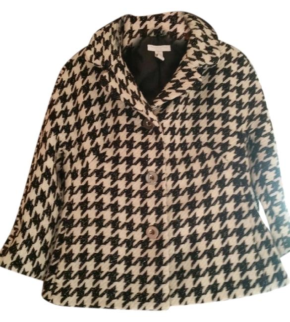 Charter Club Black and Cream Jacket