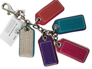 Coach Coach Multi-colored Lozenge Hangtag Purse/Key Chain Charm - 62736 Rare