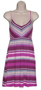 Hurley short dress Purple Multi-Colored Striped Summer Sleeveless on Tradesy