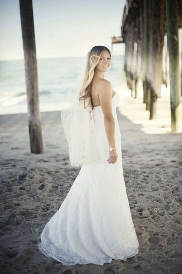 Wtoo Ivory English Net/Lace Emerson Gown Style #18320 Destination Wedding Dress Size 4 (S)