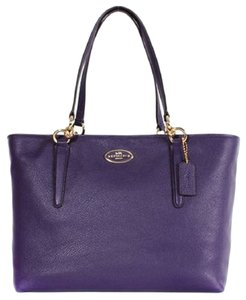 Coach Pebble Leather Ellis Tote in VIOLET