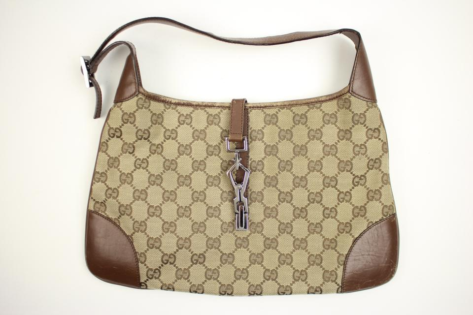 6bc26ced2269 Gucci Jackie Hobo Piston Lock Jackie-o Ggty34 Monogram Shoulder Bag ...
