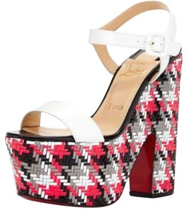 Christian Louboutin White/Multi Platforms
