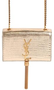 Saint Laurent Hardware Calfskin Textured Leather Cross Body Bag
