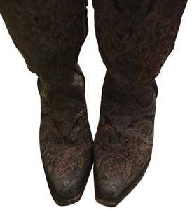 Corral Boots Blue with brown/black stones Boots