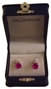 Star K Pink Sapphire Earrings