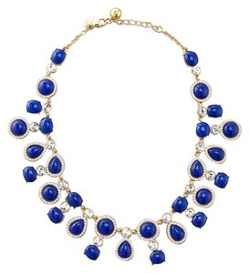 Kate Spade Rare! Limited Run! Kate Spade Moonlit Way Necklace Lapis Color Cabochons MSRP $178 Stunning!