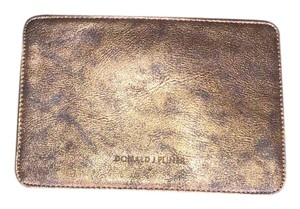 Donald J. Pliner Leather Pouch Wristlet in Bronze