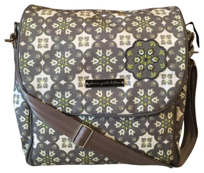 Item - Backpack Boxy Gray/Green Coated Canvas Diaper Bag