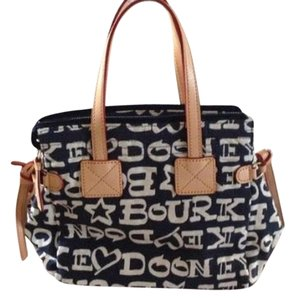Dooney & Bourke Satchel in Blue and white