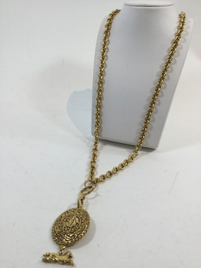 Chanel Chanel Gold Medallion Chain Link Necklace