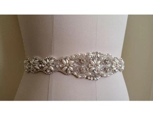 High Quality Bridal Sash Pearls And Crystals