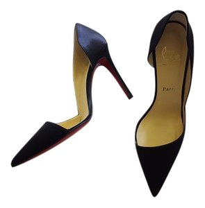 Christian Louboutin Vintage Satin Formal Black Pumps