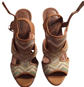Lucky Brand Brown and multicolor Wedges