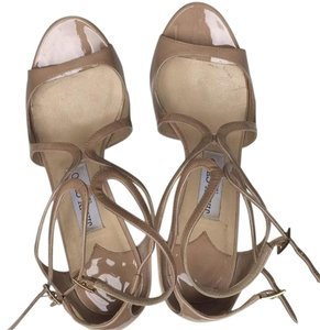 Jimmy Choo Patent Sandal Beige Nude Formal