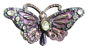 Jay Strongwater Jay Strongwater Butterfly Crystal Trinket Box Magnolia Collection $495