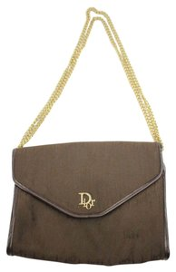 Dior Flap Trotter Trotteur Brown Clutch