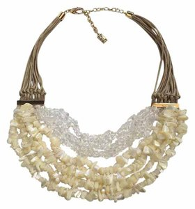 Kenneth Cole Multi Row Semi Precious Chip Beads Necklace