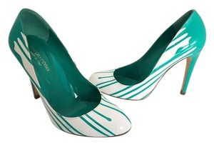 Sergio Rossi Green & White Pumps