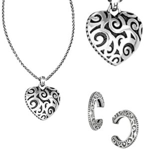 Brighton Opera Heart Necklace & Earrings