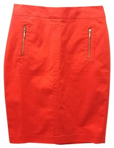 Polyester Spandex Pencil Skirt Red