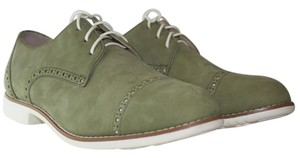 Cole Haan Oxfords Suede Chic Olive Green Flats