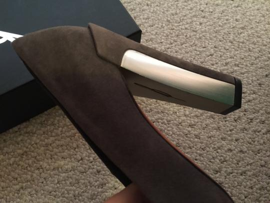 Brian Atwood Grey Suede Pumps