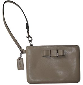Coach Leather Corner Zip Wristlet Wallet