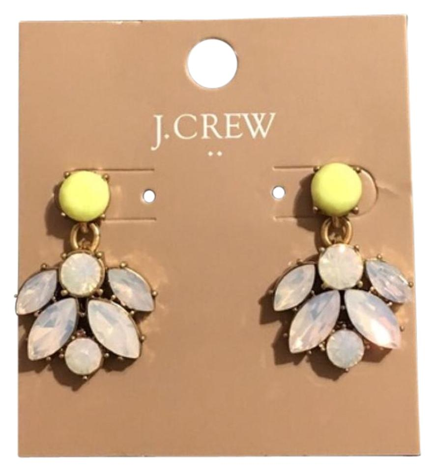 fdfb8544218 J.Crew Yellow Opaque Gold Statement Earrings - Tradesy