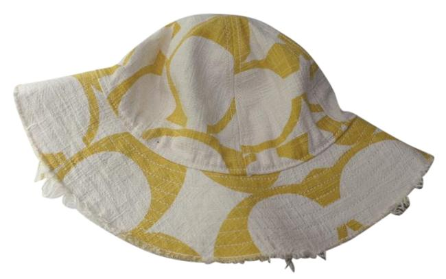 Item - White and Yellow Floppy Hat
