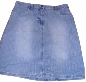 Faded Glory Skirt Denim Blue
