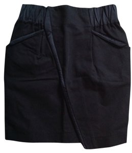 See by Chloe Wrap Front Mini Skirt Black
