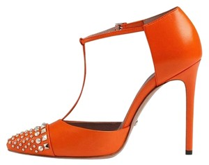 Gucci T-strap 370801 Orange Pumps