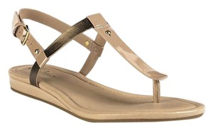 Cole Haan Thong Nude and gold metallic Sandals