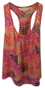 Trina Turk Top Fushcia, coral, purple and brown print