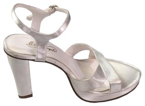 Michelangelo Open Toe White Sandals