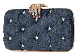 Benedetta Bruzziches Carmen Denim New Blue Clutch