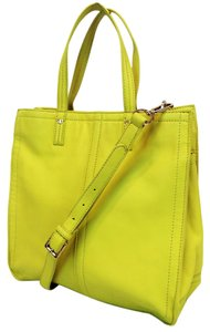 Tory Burch Violet Leather Tote in Yellow
