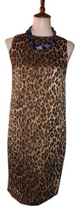 Dolce&Gabbana short dress $225 ** Free Shipping ** Silk Leopard Print Size 2 on Tradesy